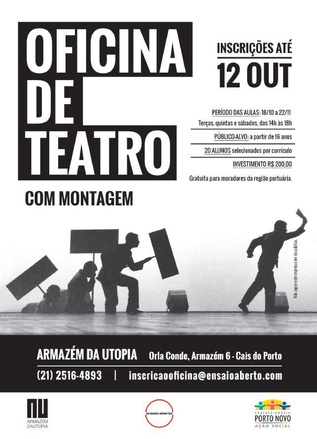 """Oficina de teatro da Companhia Ensaio Aberto monta adaptação de """"O Círculo de Giz Caucasiano"""", de Bertolt Brecht"""